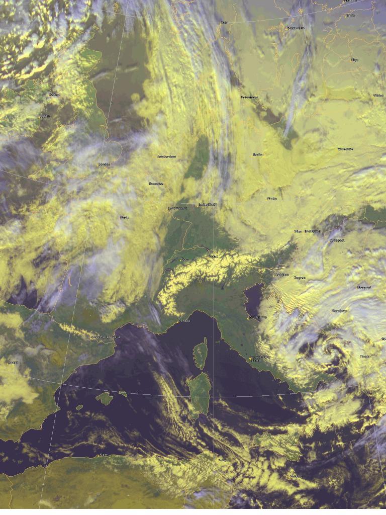 Cyclone over the Adriatic Sea
