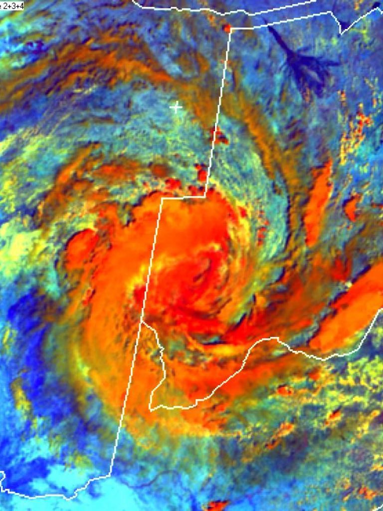 Tropical Low over Namibia-Botswana border area