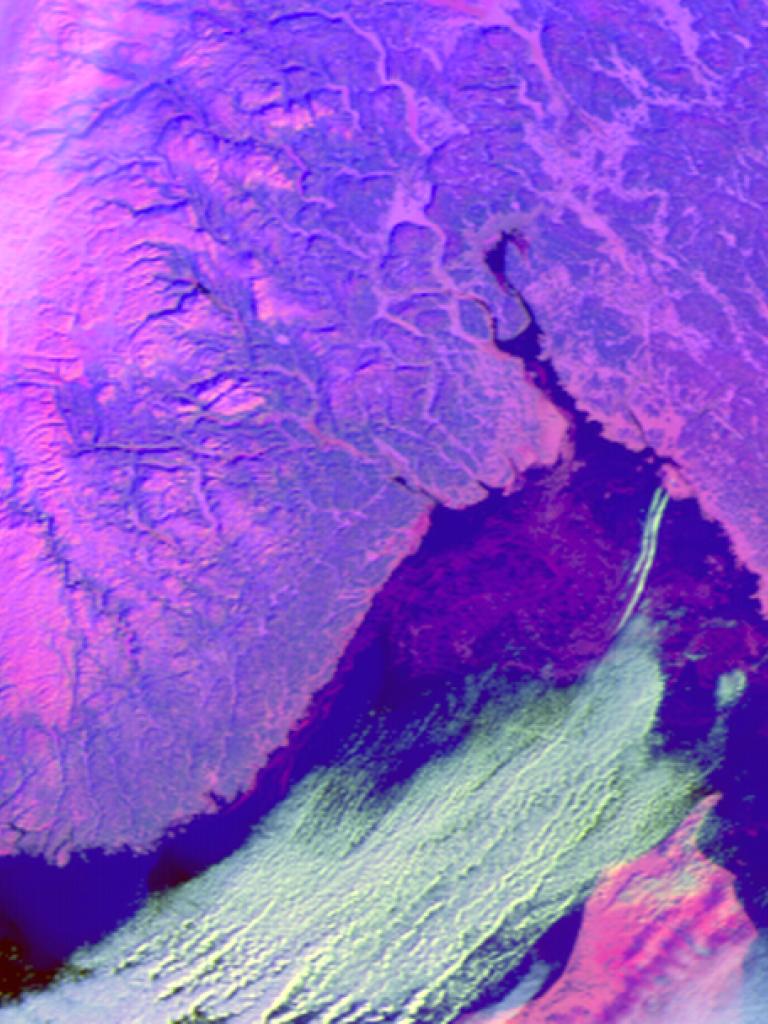 Sea ice swirls in the Skagerrak Strait
