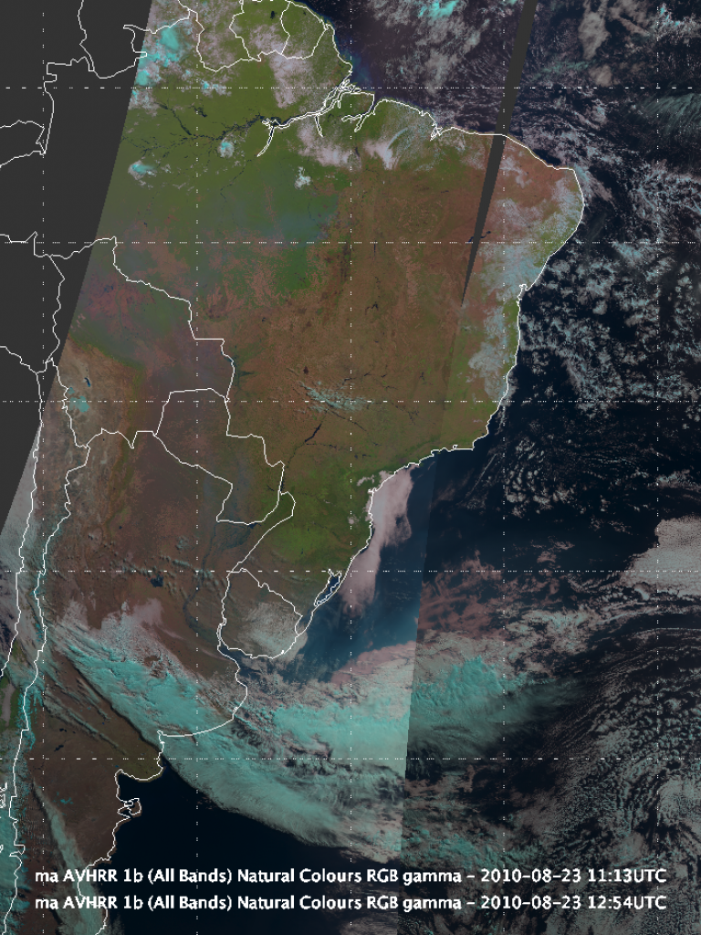 Large smoke plumes from fires over Bolivia