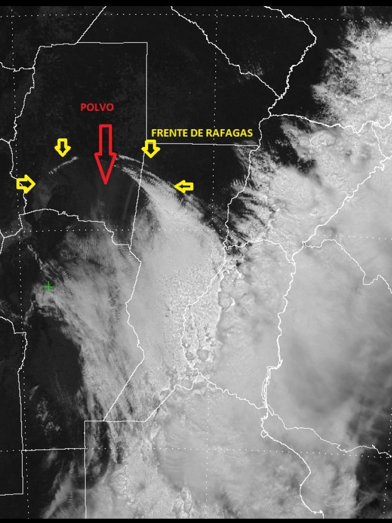 Dust squall (haboob) over Argentina