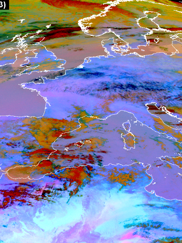 Contrails over Central Europe