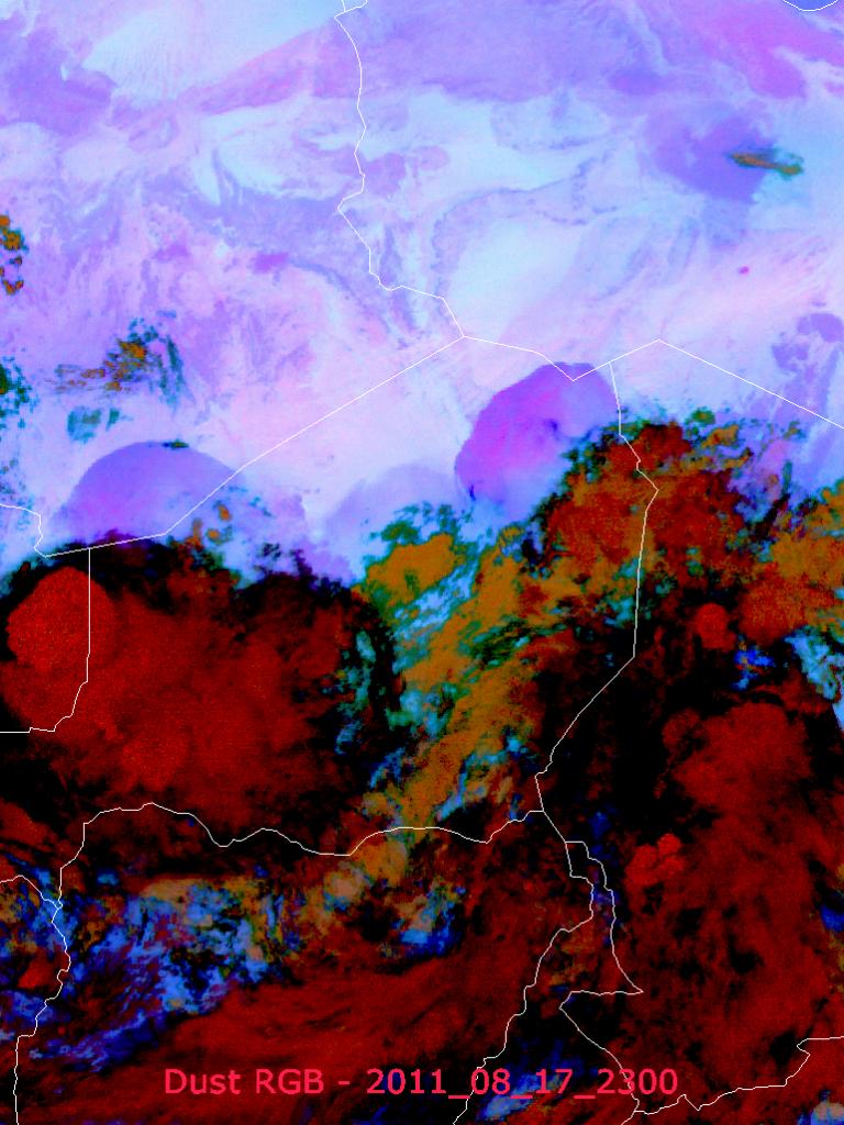 Three Major Saharan Dust Squalls