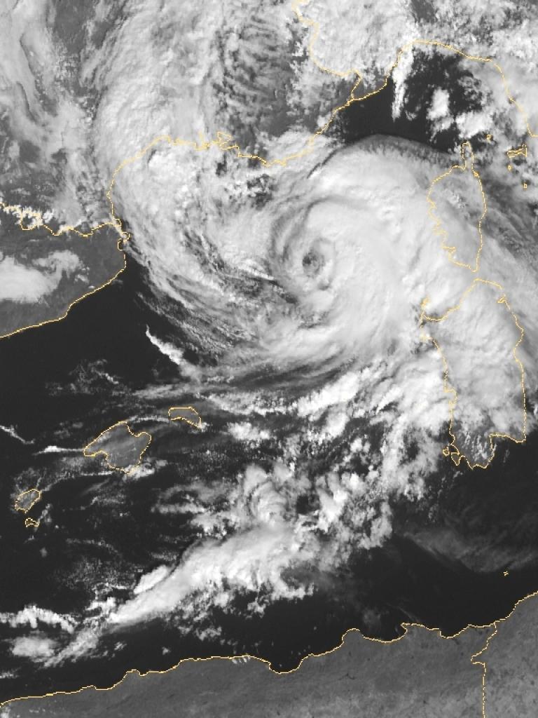 Tropical storm develops in the Mediterranean Seaa