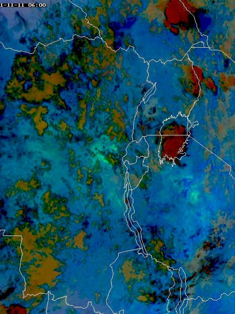 Sulphur dioxide and water vapour converge at Mount Nyamuragira, Congo