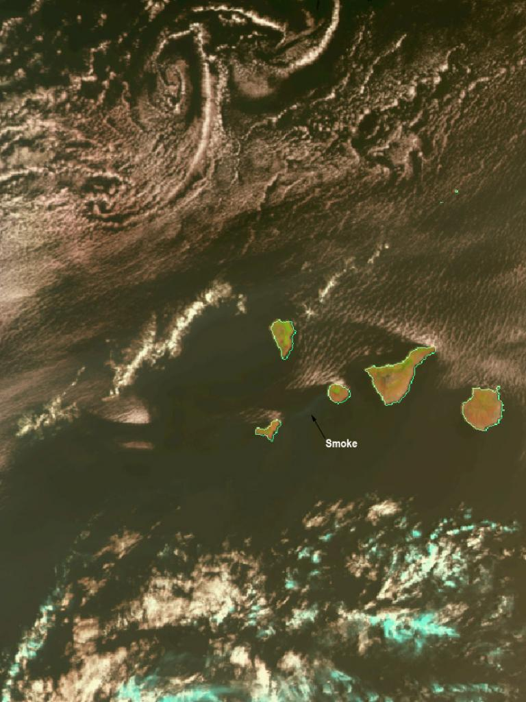 Fires during heat wave in the Canary Islands