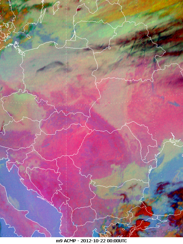 Fog over parts of Europe