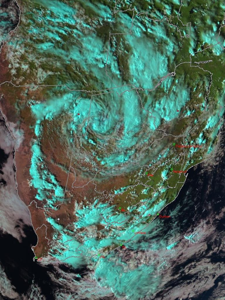 Tropical low over southern Africa