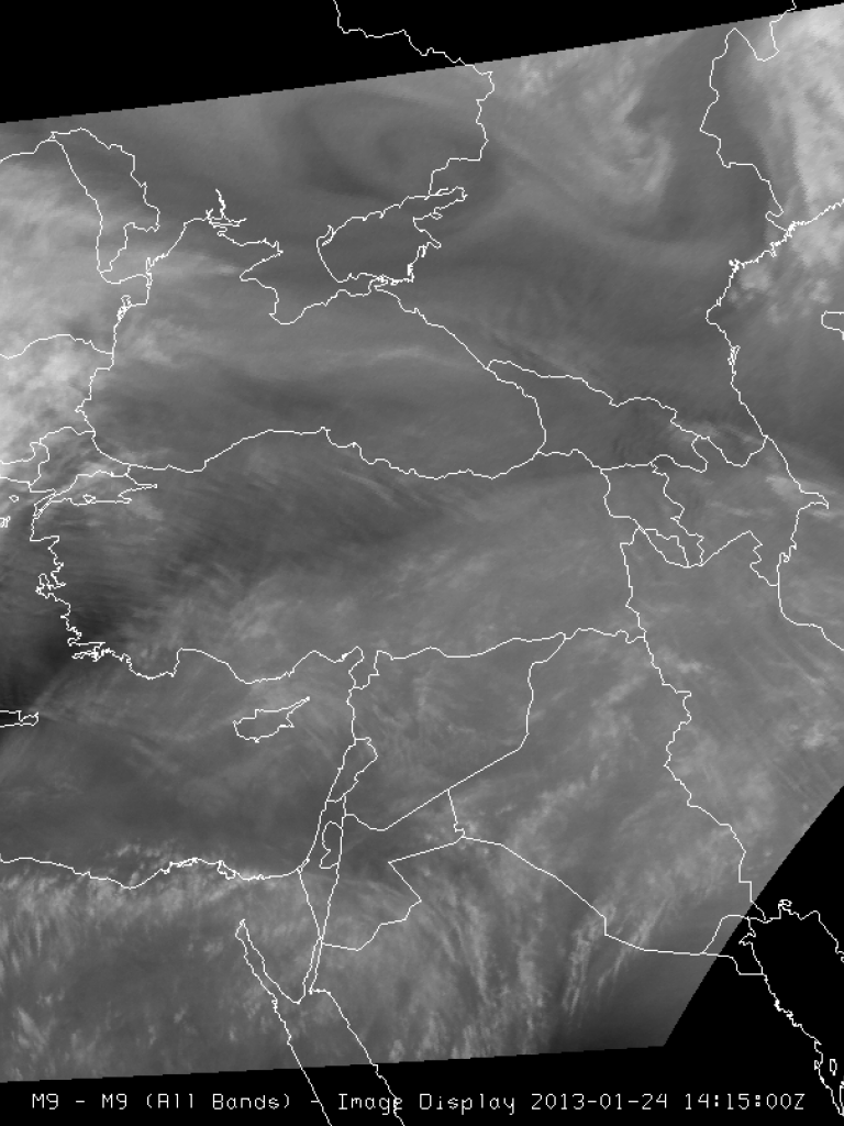 Cyclone forming over Turkey