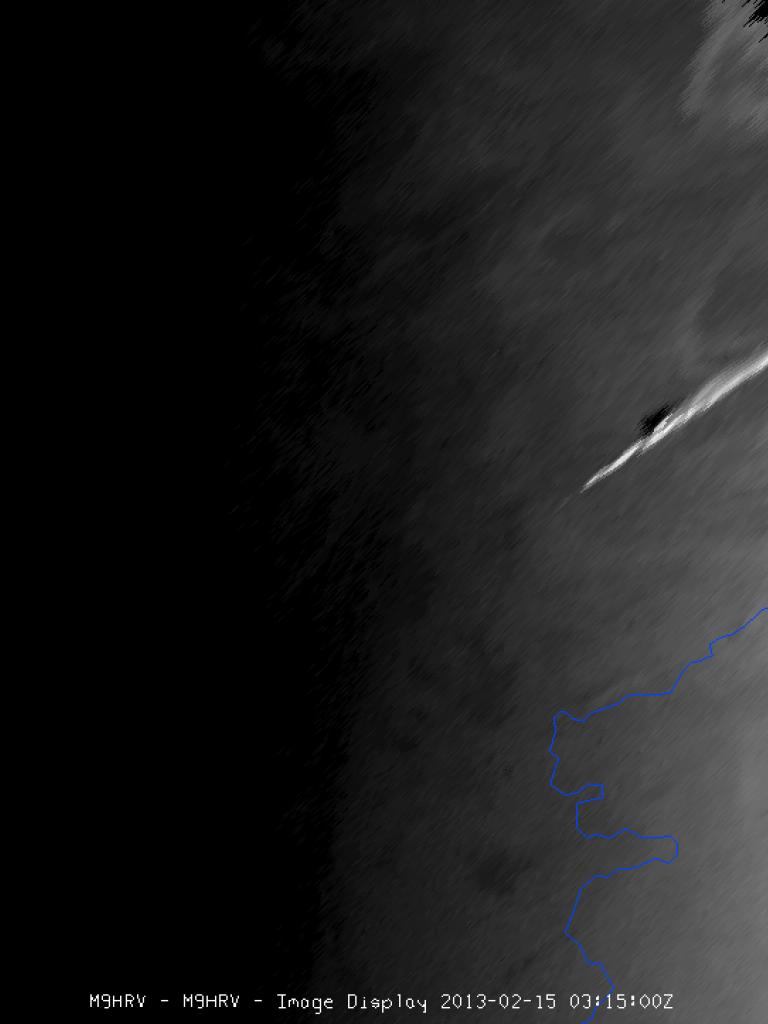 Meteor over Russia seen by Meteosat-9