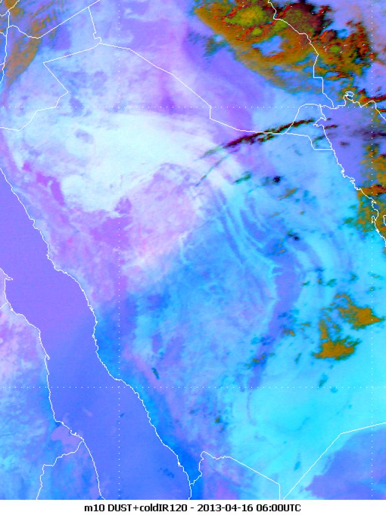 Distinct line across Saudi Arabia from the Red Sea to Kuwait