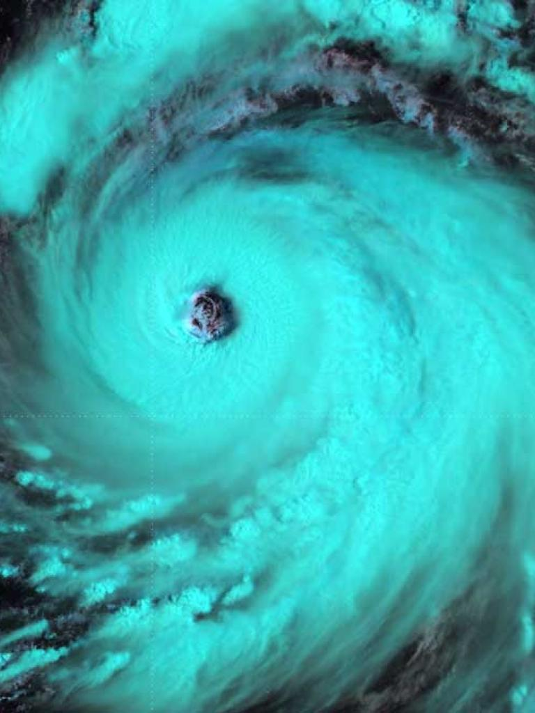 Tropical Cyclone Soulik over the Pacific Ocean