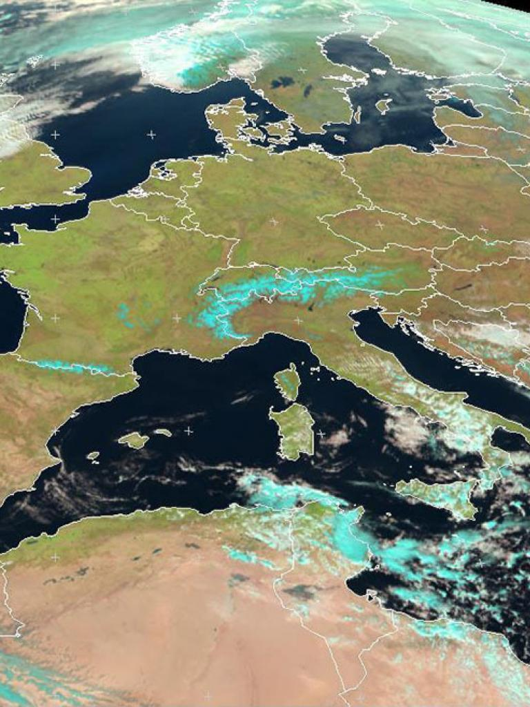 Record-breaking spring temperatures in Europe