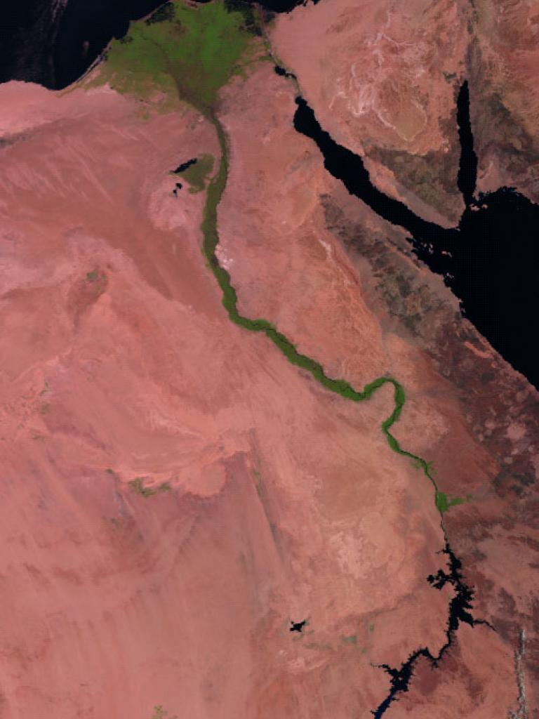 River Nile as seen Metop-B