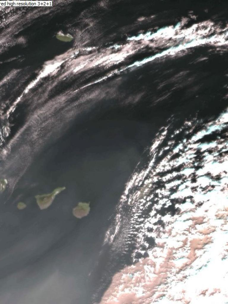Large dust cloud over the Canary Islands
