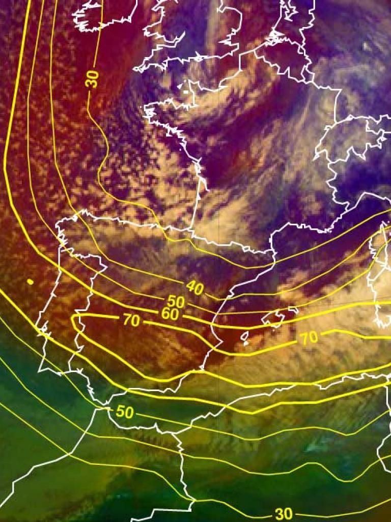 Dust travels from Algeria to the Black Sea
