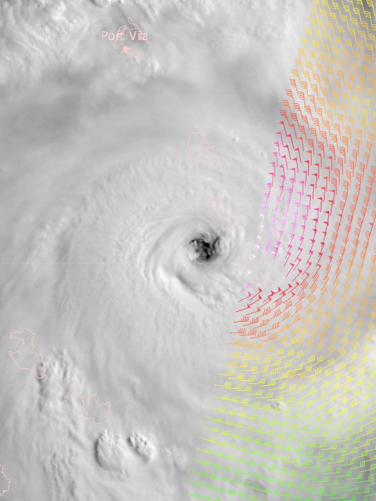 Tropical cylone Pam hits Vanuatu