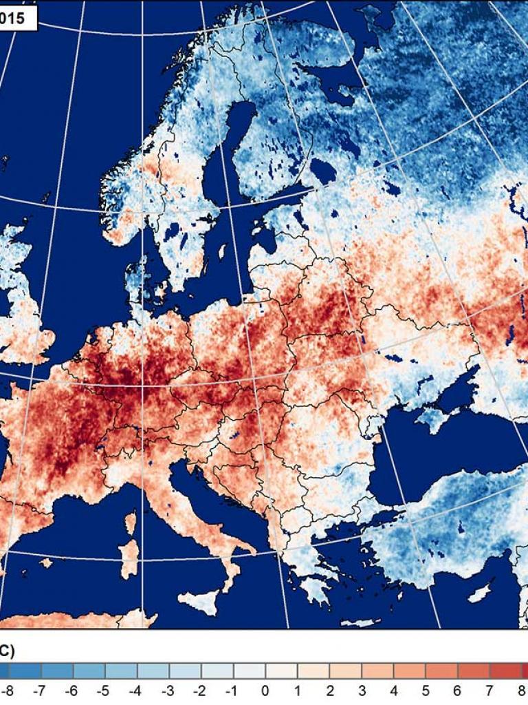 European heatwaves lead to droughts