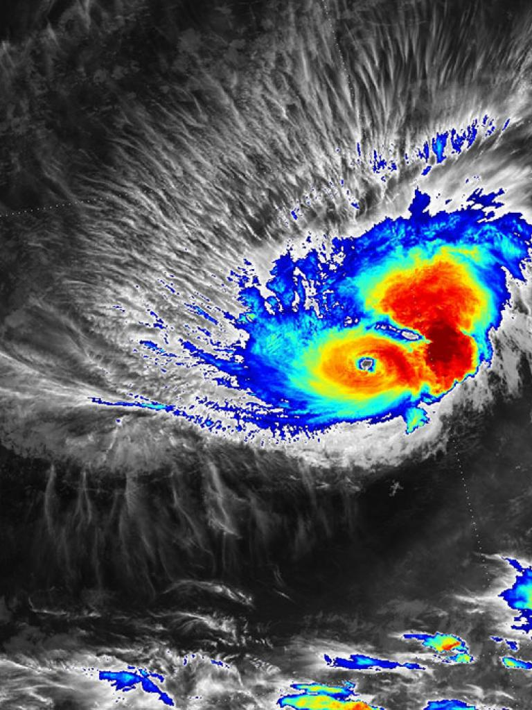 Record-breaking hurricane Pali