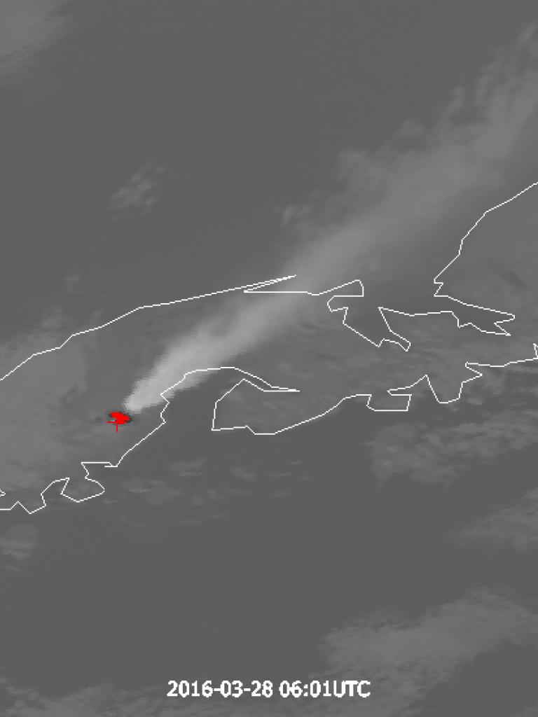 Eruption of Pavlof volcano, Alaska