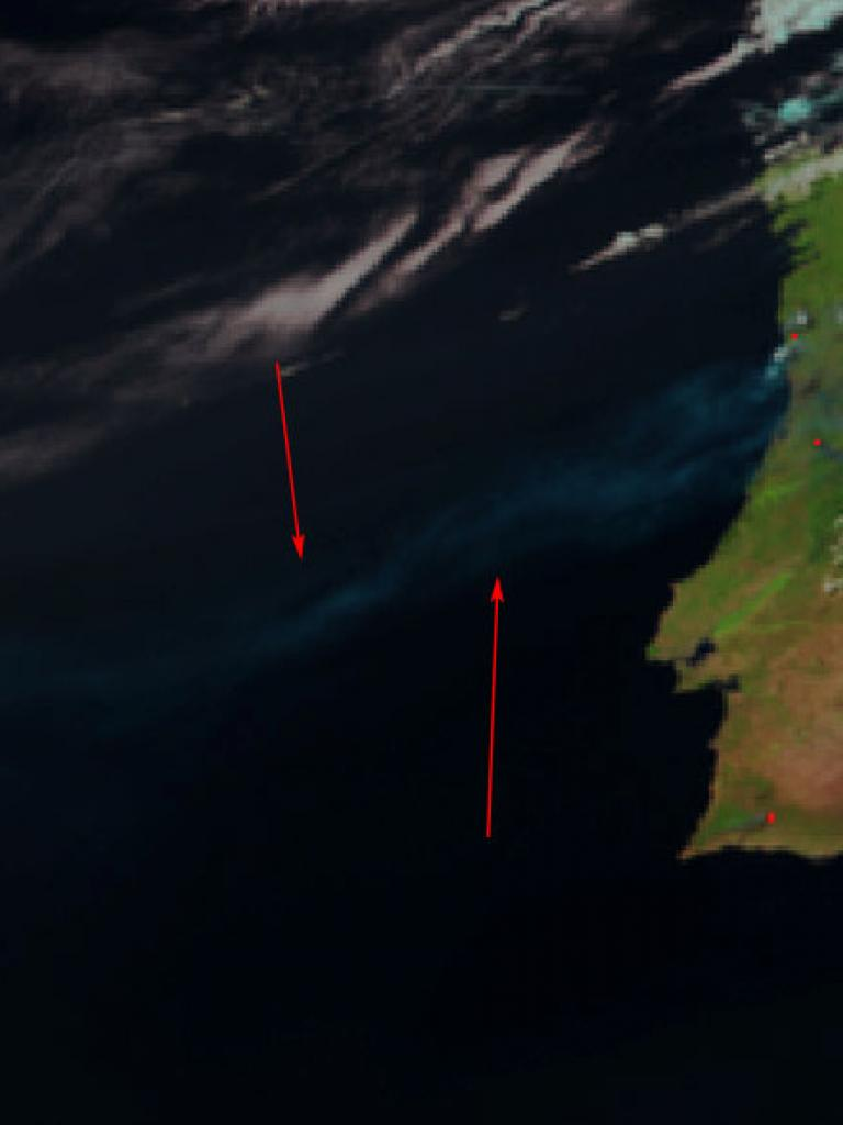 Smoke from wildfires in Portugal