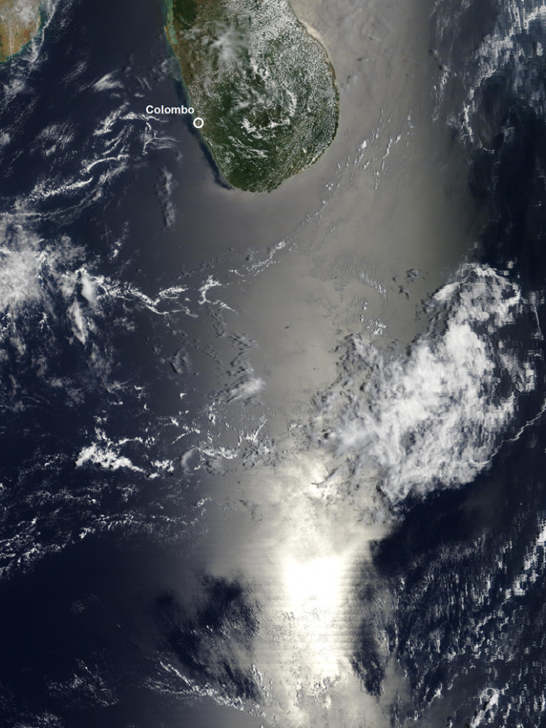 Sunglint during March equinox