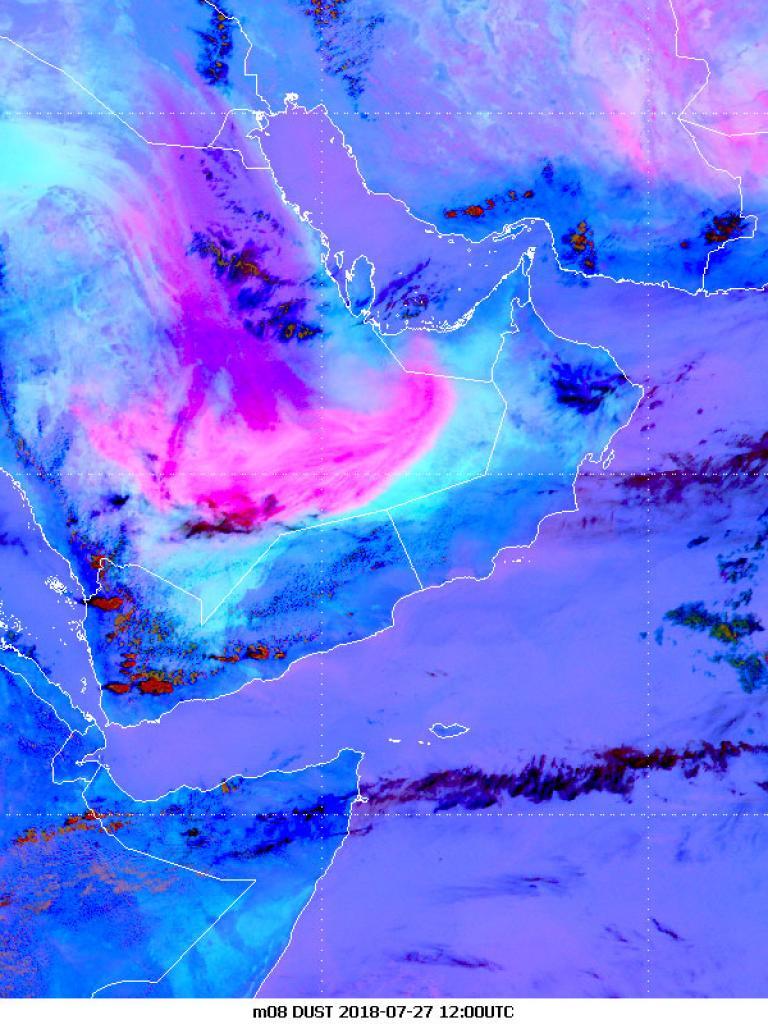 Dense dust outbreak across the Arabian peninsula