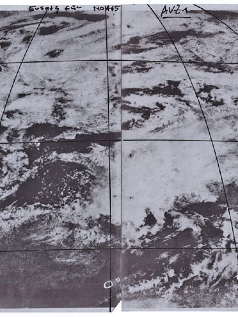 How Meteosat-1 'saw' severe storm over Switzerland