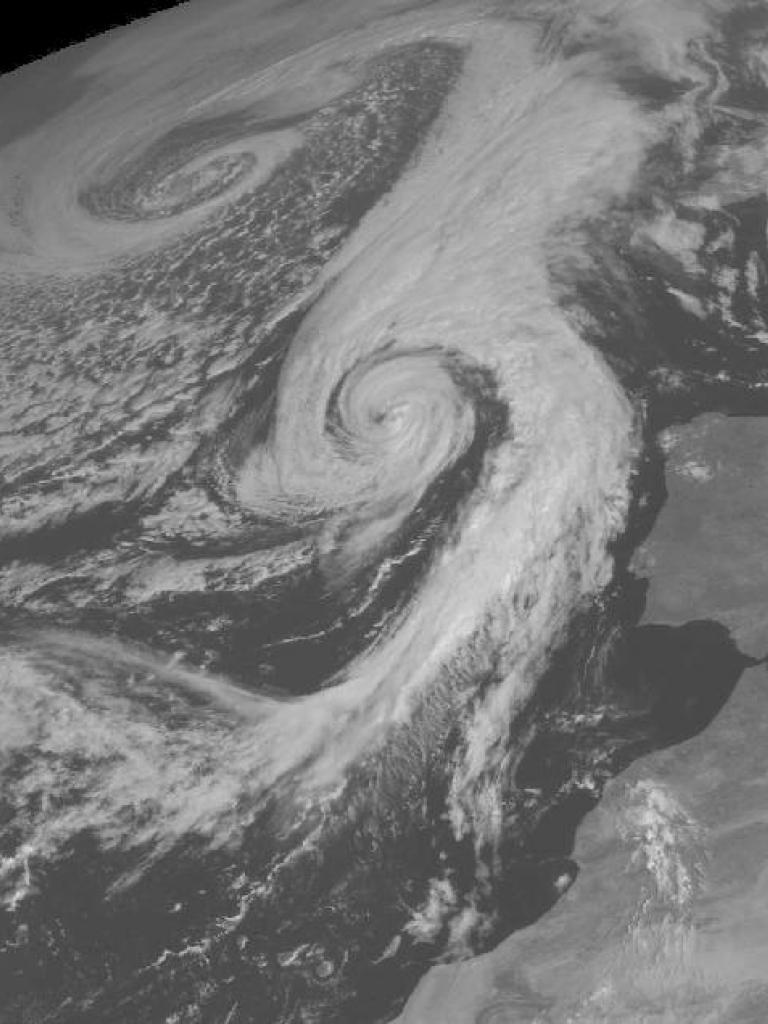 Ex-hurricane Charley west of Europe