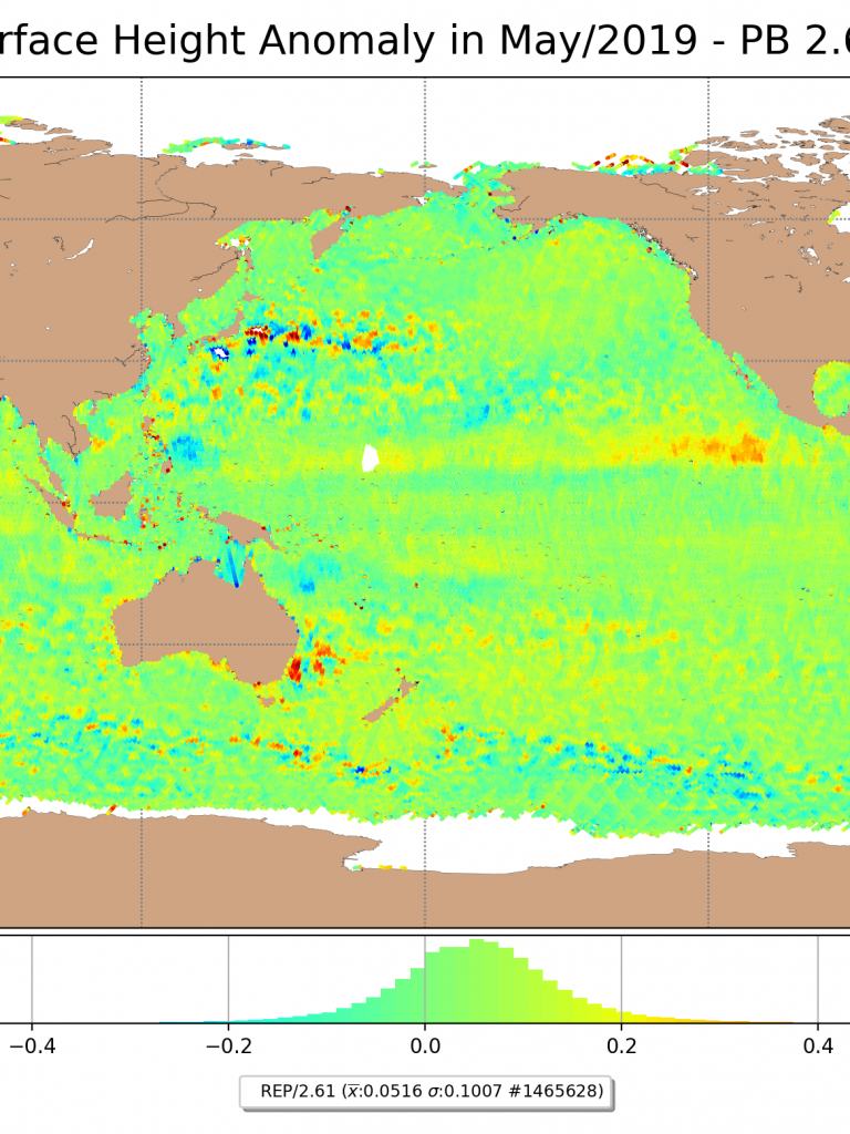 Sentinel-3 SRAL Sea Surface Anomaly May 2019