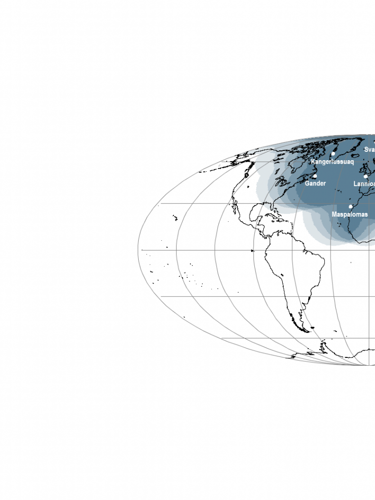 EARS-ASCAT Geographical Coverage Map