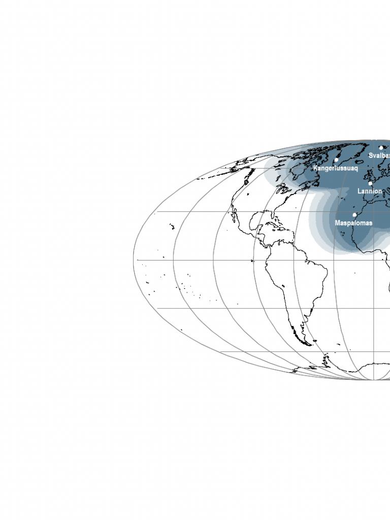 EARS-MERSI & EARS-MWRI Geographical Coverage map