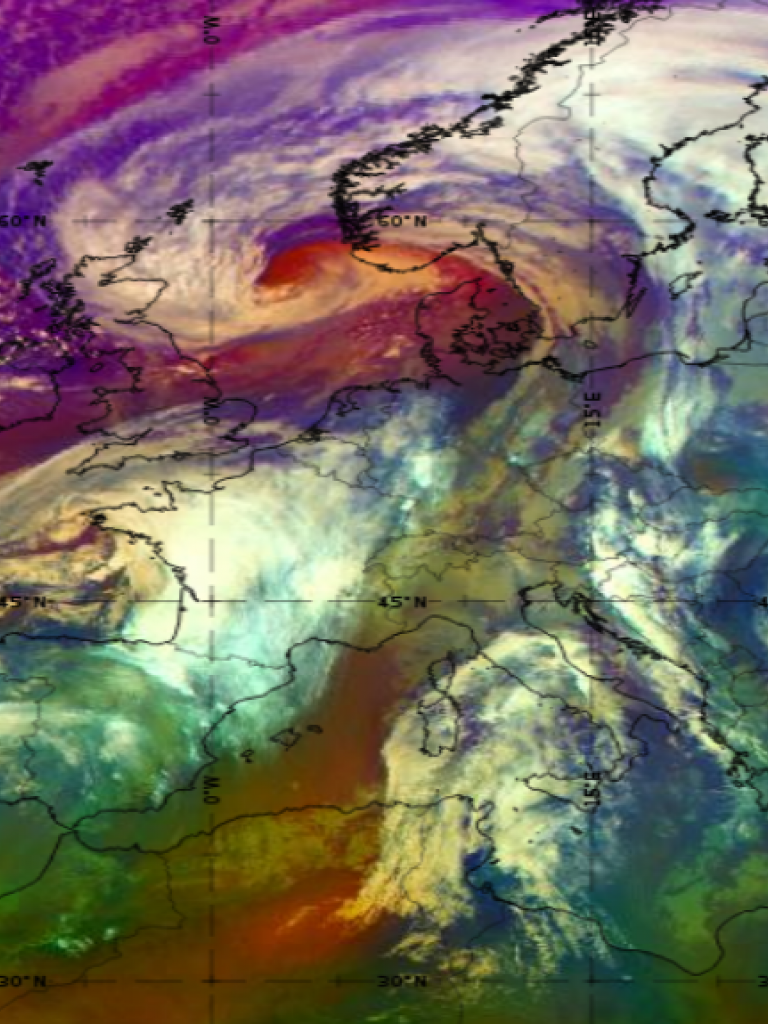 Met-11 Airmass RGB, 21 Jan 12:00 UTC