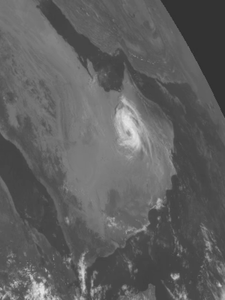 Cyclone over the Arabian desert