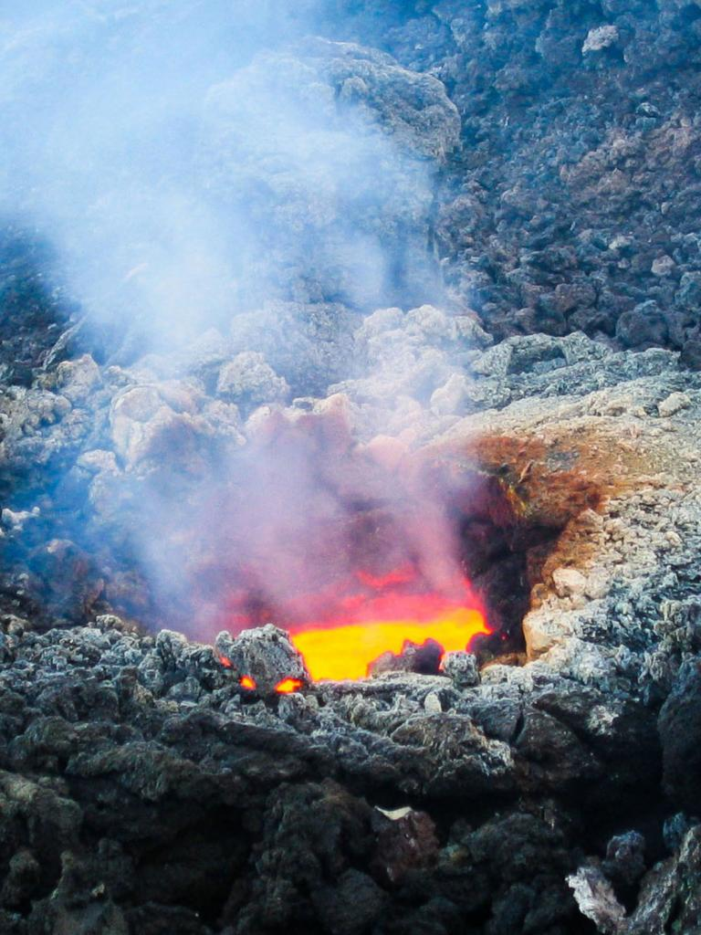 Lava from a volcano