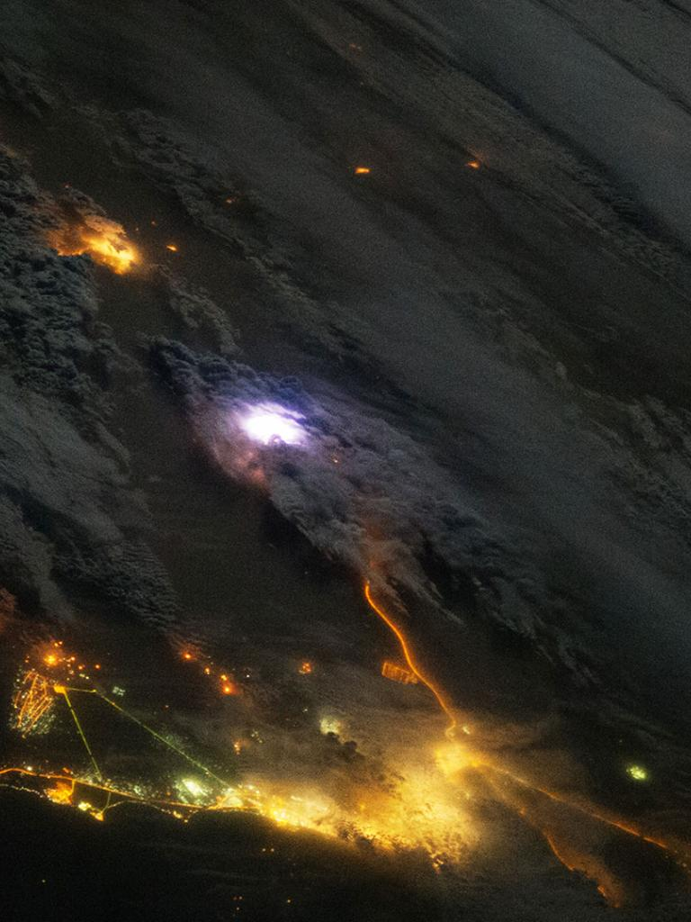 Lightning seen by the ISS, NASA