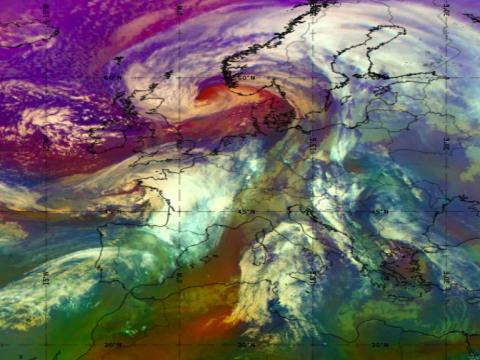 Met-11 Airmass RGB, 21 Jan 12:00 UTC